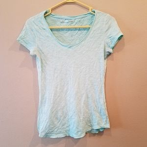 Maurices light blue v neck tee size small.